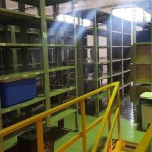 Locação de estantes de aço